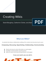 creating wikis
