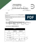 Acta Final de Elecciones de la Mesa Directiva del Centro Federado de Derecho 2016