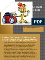Capacidad y Nivel de Servicio en La Sintersecciones Con Semaforo