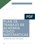 Plan de Trabajo de Acadmia Fisico Matematicas