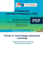 ICT-enhanced Innovative Pedagogy in TVET
