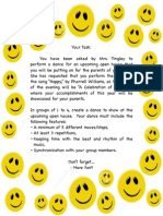 pe unit plan - dance assessment task