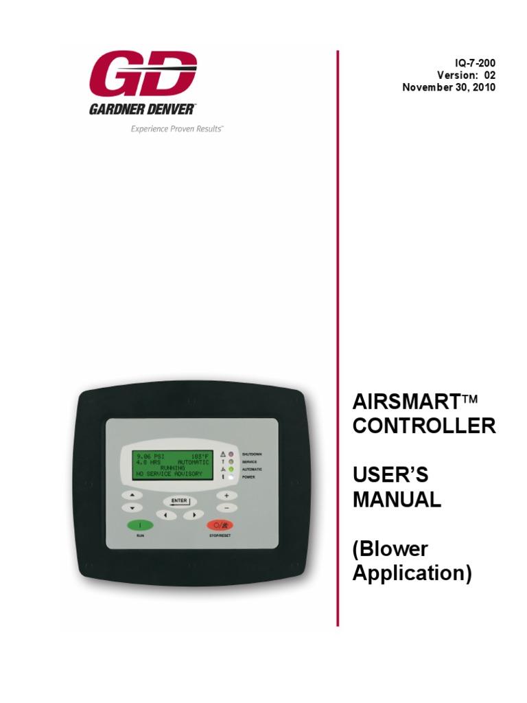 air smart controller manual timer menu computing rh scribd com Gardner Denver Compressor Vertical Parts Gardner Compressor Denver Listvs170