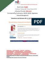 [Braindump2go] Latest 70-497 PDF Free 100% Pass Guaranteed 41-50