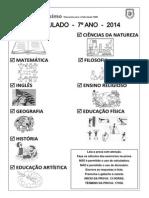 I Simulado 7ºs Anos (2014)
