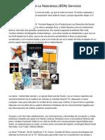 Banco De Datos De La Naturaleza (BDN) Servicios