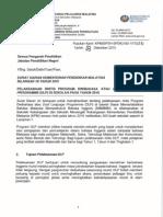 Surat Siaran KPM Bil 18 Tahun 2015 - Pelaksanaan Rintis Program Dwibahasa DLP