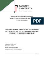 CONTEXTUAL ARCHITECTURE STUDY  & CASE STUDY PAPER
