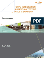 AOS CPPM Integration - Configuration Testing Document for EAP TLS EAP PEAP v2