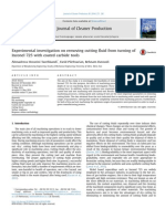 Journal of Cleaner Production,Experimental Investigation On