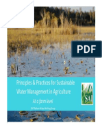 Principles and Practices for Sustainable Water Management At a Farm Level