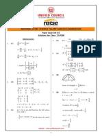 NSTSE Class-12 Solution (PCM)