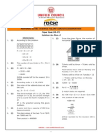 NSTSE Class 4 Solution
