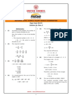 NSTSE Class 5 Solution