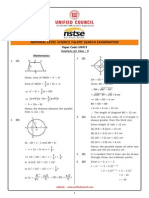 NSTSE Class 9 Solution