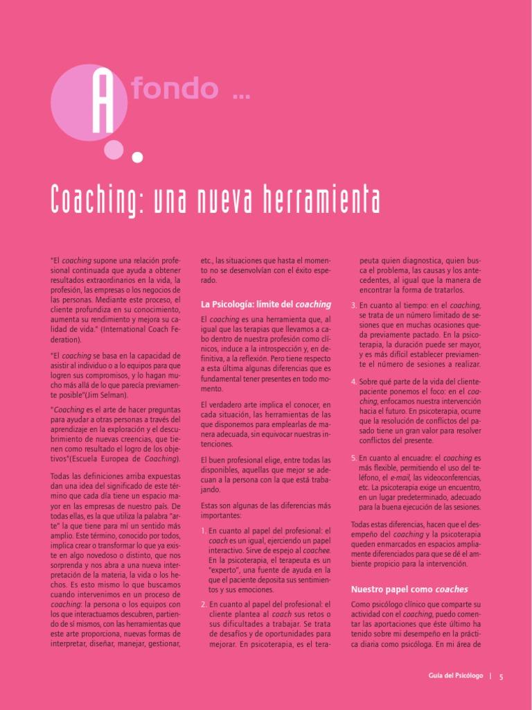 Doc 1 - Coaching- Una Nueva Herramienta
