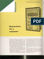 Ergonomics for a computer