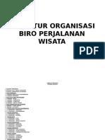 Struktur organisasi BPW