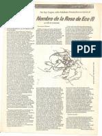 Nombre de La Rosa de Eco. Inés de Casagne. Suplemento Cultural.