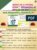 Presentation on Mitigation of Fluorosis