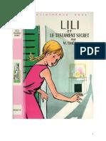 Lili 08 Lili Et Le Testament Secret Maguerite Thiébold 1968