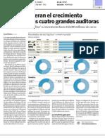 EY y PwC lideran el crecimiento mundial de las cuatro grandes auditoras