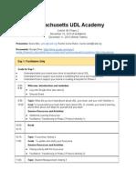 massachusetts udl academy cohort 1b phase 2 agenda