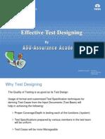 Effective Test Designing
