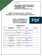DISEÑO DE MEZCLA PARA UN SILO DE CONCRETO