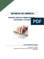 NOVELLE LÓPEZ L. Archivos Empresa