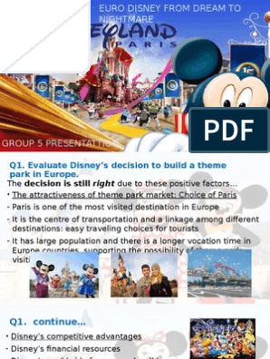 Euro Disney case study | The Walt Disney Company | Tourism