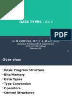 data types-c++