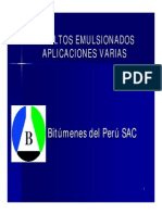 Caracteristicas Emulsiones Asfalticas