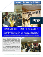 Una noche llena de grandes sorpresas en Mina Quiruvilca - Eusterio Huerta León