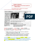 Chapitre 5 (Histoire) - Comment Le Pouvoir Royal Se Renforce-t-il en France à Partir Du XIIème Siècle - 11.12.15