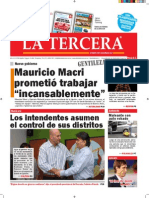 Diario La Tercera 11.12.2015