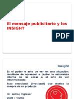El Mensaje Publicitario y Los INSIGHT