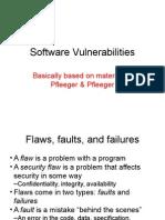 Software Vulnerabiliites