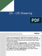 2G – LTE Shearing