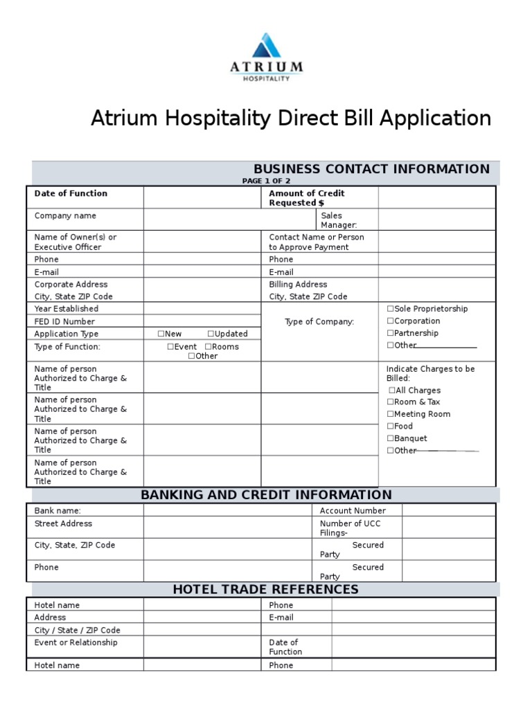 acctg ar002 1215 direct bill application credit finance