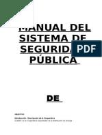 Manual Del Sistema de Seguridadpublica de .................................