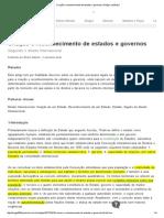 GABRIEL, Bruno. Criação e Reconhecimento de Estados e Governos