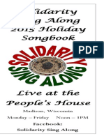 Solidarity Sing Along Songbook, Holiday 2015 edition