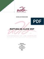 Imforme Ruptura Clave Wep