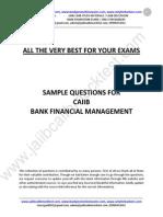 CAIIB BFM Sample Questions by Murugan for Dec 2015