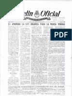 Boletin Oficial Aprobacion de Ley Organica PFA