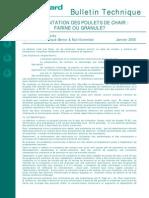 Lalimentation Des Poulets de Chair Farine Ou Granule Jan 2005 034588600 1454 06012015