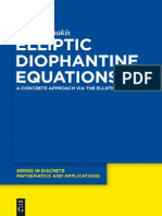 Elliptic Diophantine Equations