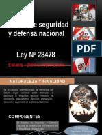 Ley 28478 Sistema de Seguridad y Defensa Nacional