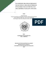 Thesis Pengaruh Komitmen Organisasi, Perubahan Organisasi, dan Budaya Organisasi terhadap Efektivitas Kerja pada Kantor wilayah Ditjen Pajak Jawa Tengah II